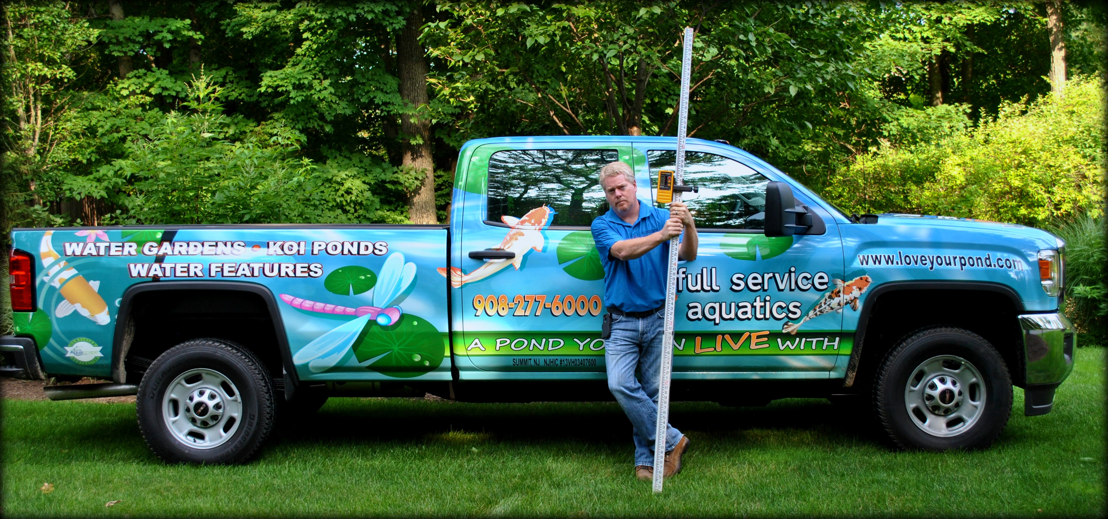 New jersey pond waterfall leak repair is easy full for Koi pond maintenance service