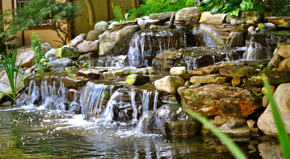 hillsborough nj somerset county 08844 koi pond water garden waterfall install - Garden Waterfalls