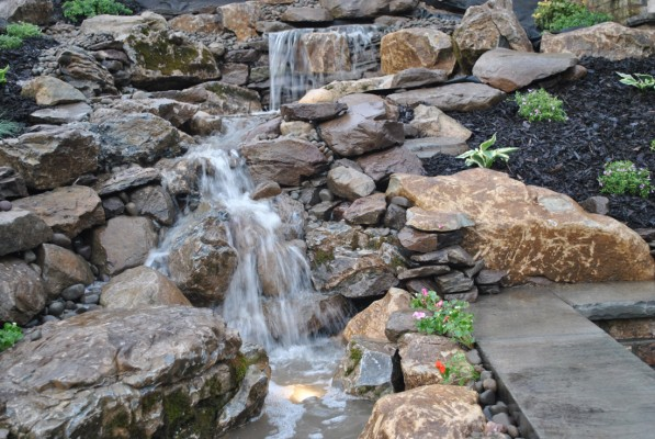Incredible pondless waterfall install in lattingtown ny 11560 for Waterfall installation