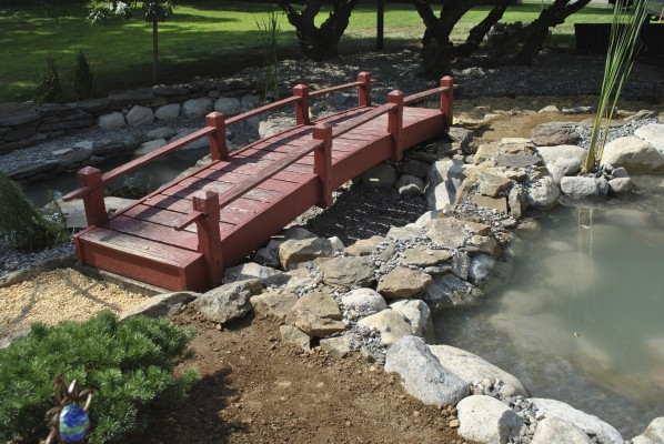 Water garden koi pond installation project in long branch for Fish pond installers