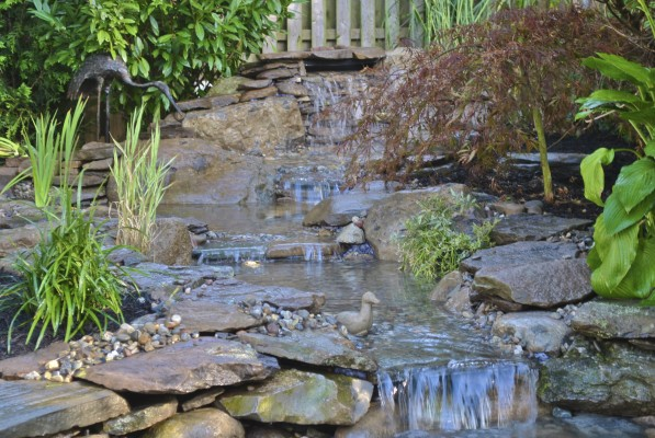 Water Garden Koi Pond Installation Project In Summit New Jersey
