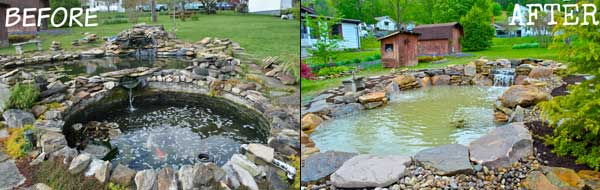 New Jersey Pond Renovation Before & After