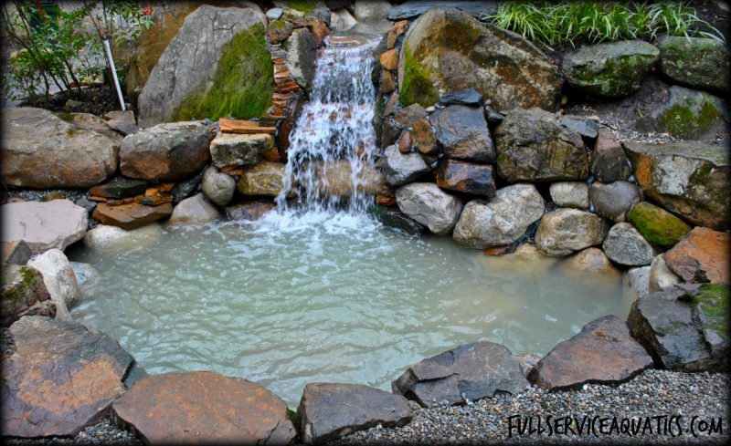 Koi pond water garden project in princeton new jersey for Koi pool water gardens blackpool