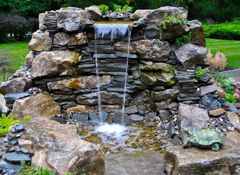 Backyard Waterfall Display